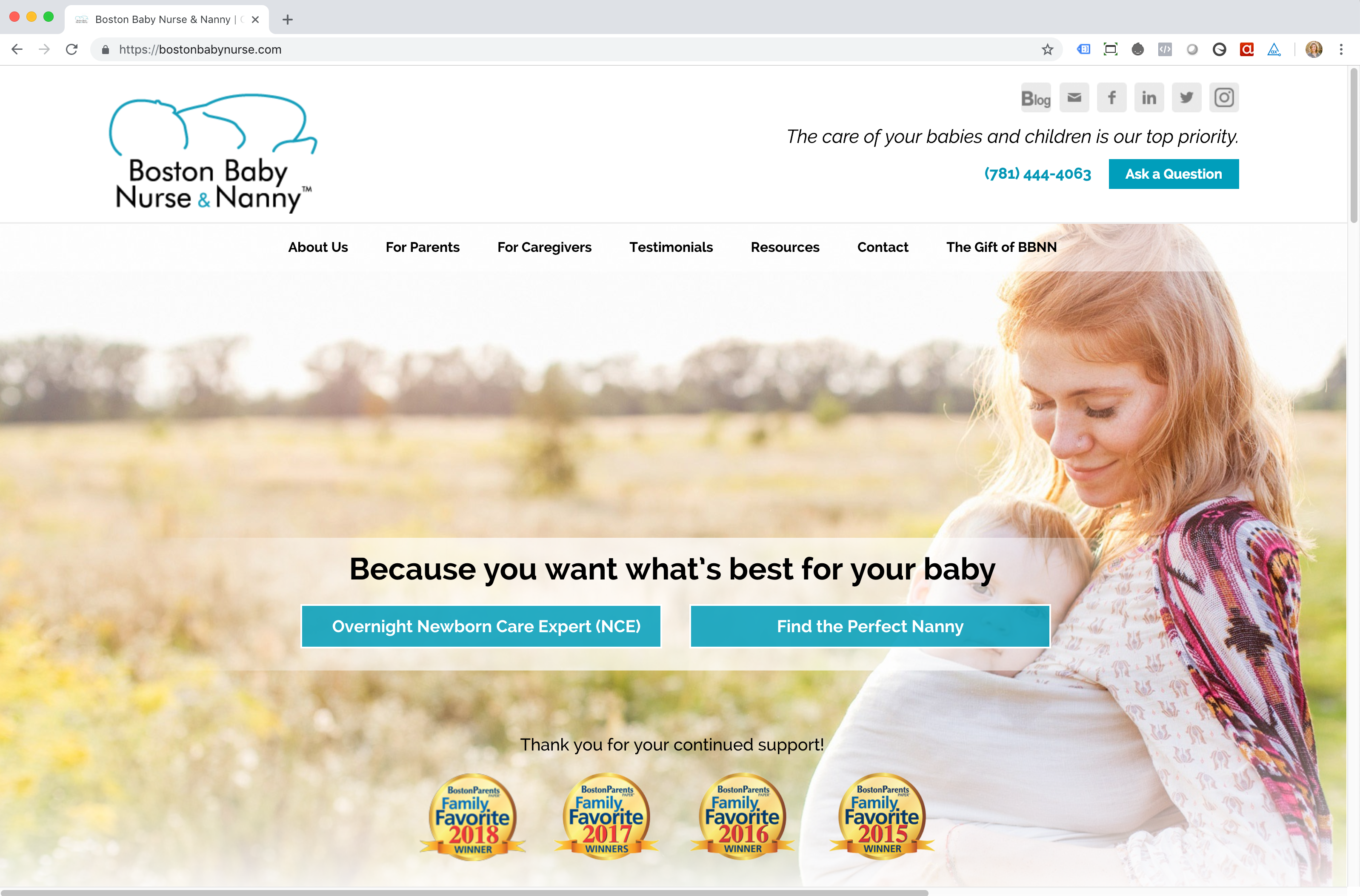 Boston Baby Nurse Web Site