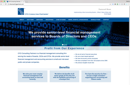 CFO Consulting Partners - Design and Development
