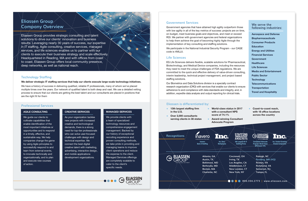 Company Overview and Data Sheet Template