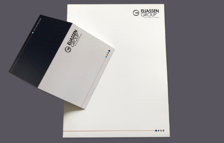 Marketing Folder and Branded Note Card